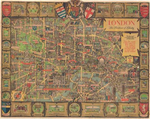 London The Baston of Liberty   Geographicus Rare Antique Maps London The Baston of Liberty