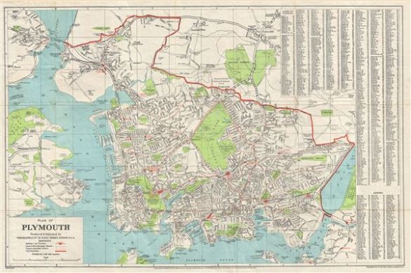 Plan of Plymouth   Geographicus Rare Antique Maps Plan of Plymouth