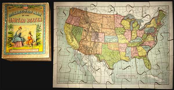 Dissected Map of the United States   Geographicus Rare Antique Maps Dissected Map of the United States