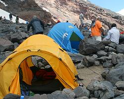 Climbing Ararat camp site