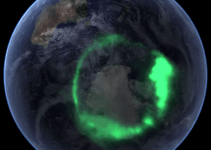 Animation of Southern Lights (Aurora Australis)
