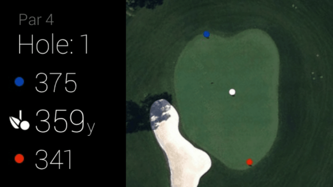 GolfSight displays distances to every green