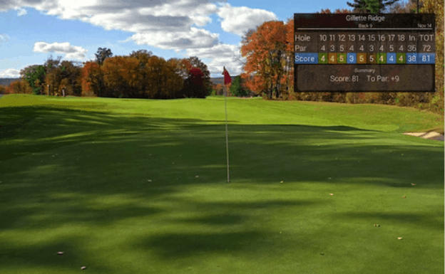 GolfSight's scorecard
