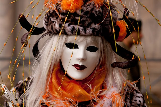 Masks are an important part of Carnival celebrations in Venice, Italy.  Photo: Stefan Insam