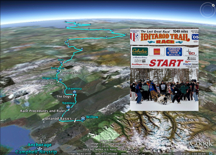 Project based learning using the Iditarod sled dog race in Alaska.