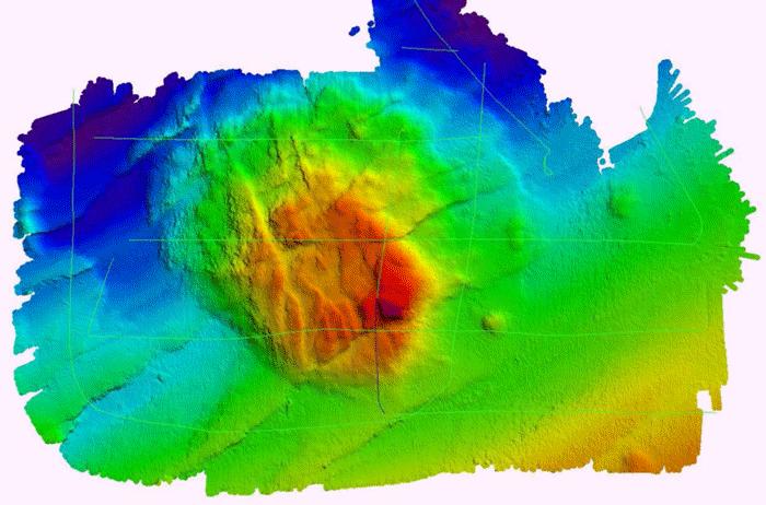 Falkor Seamount. Image credit: Schmidt Ocean Institute