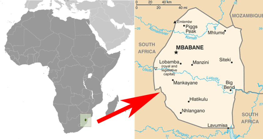 swaziland map of africa Swaziland Is Now Eswatini Geography Realm
