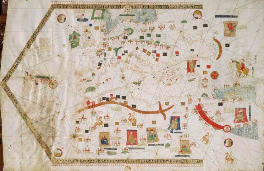 Portolan chart by Gabriel Vallseca, 1439. Museo Marítimo, Barcelona