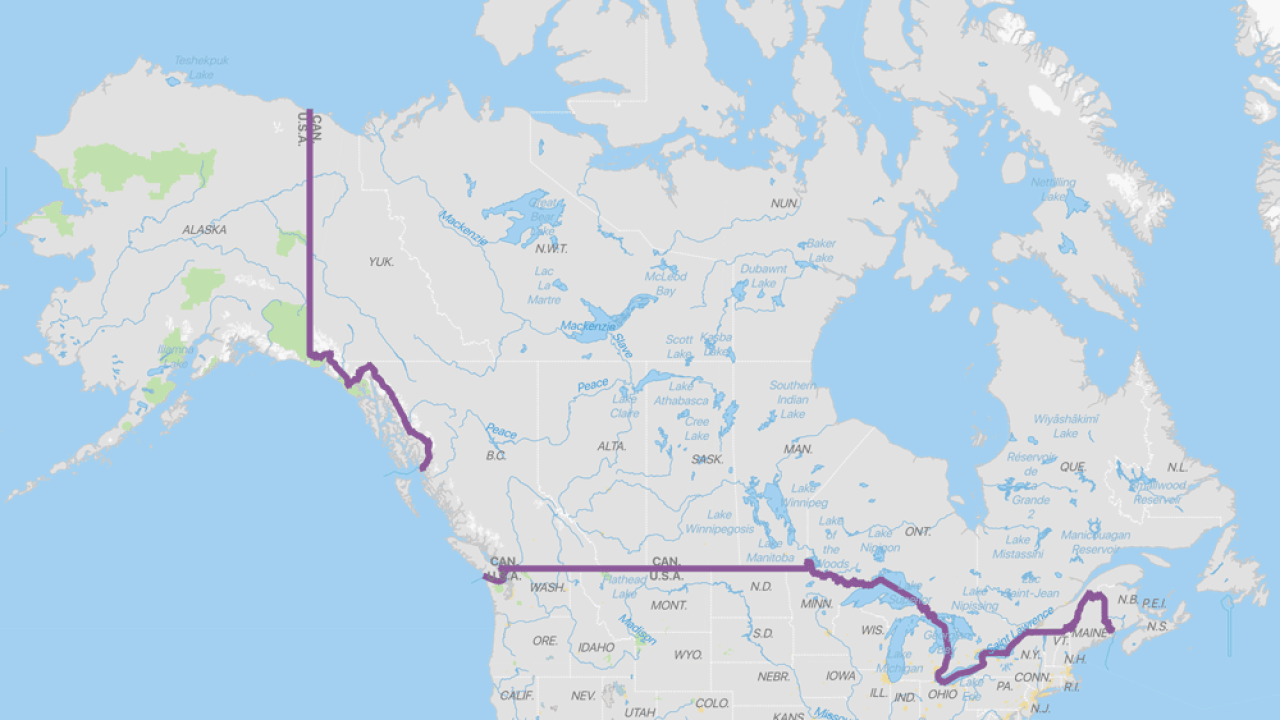 Map Of Canada Us Border.Interesting Geography Facts About The Us Canada Border Geography