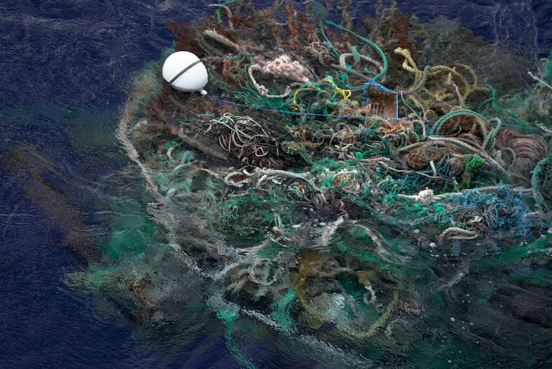 GPS tracker attached onto ghost fishing nets. Source: OVI