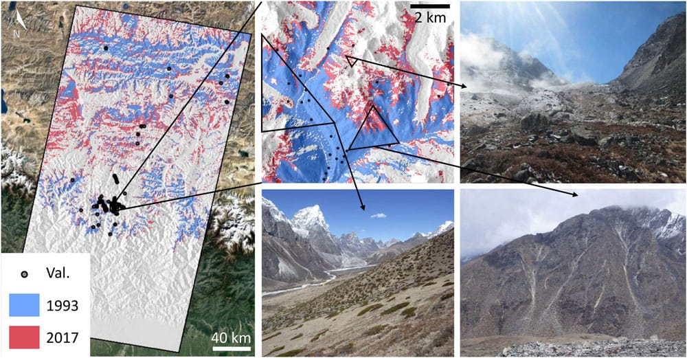 Researchers analyzed Landsat satellite imagery between 1993 to 2018 to look at changes in subnival vegetation cover in the Himalayas.