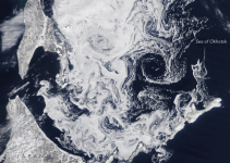 Lowest Latitude Sea Ice South of the Arctic