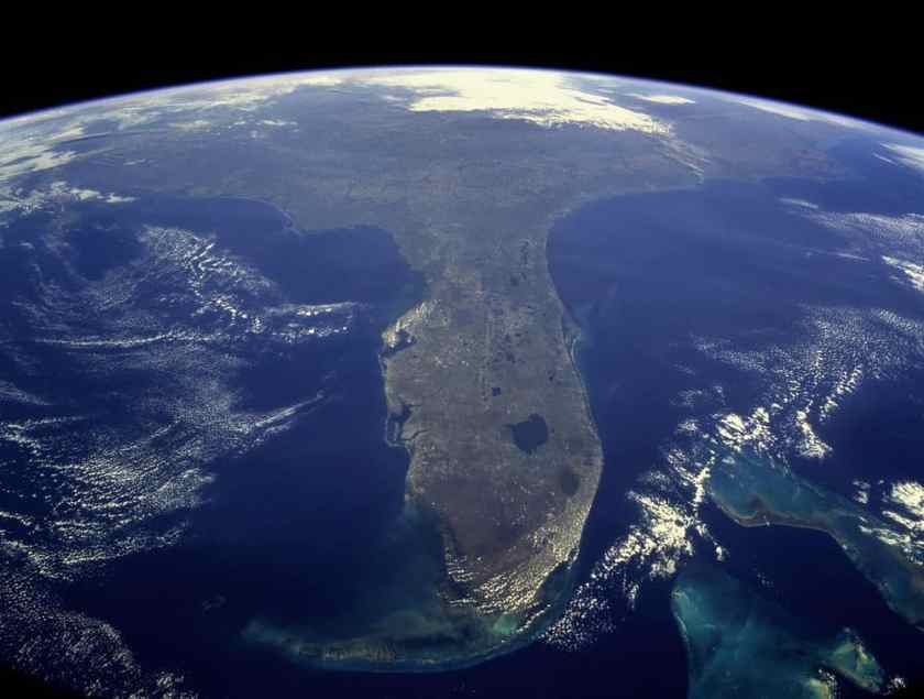 Florida as seen from the International Space Station.  NASA, public domain