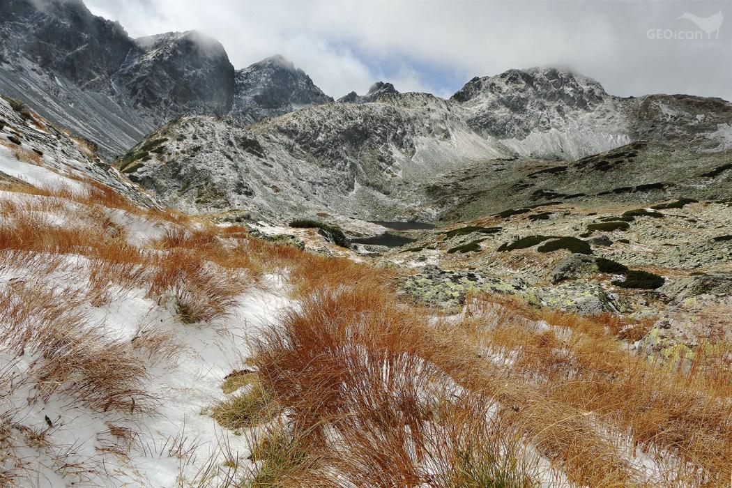 The first snow in Velká studená valley