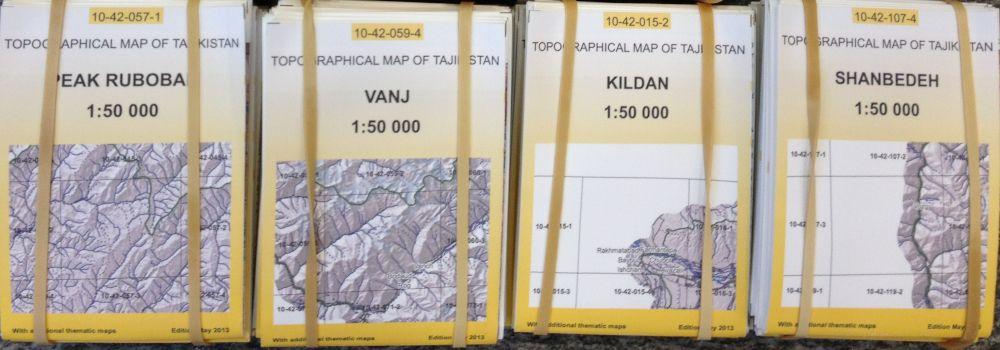 Atlaskartenserien Pamir für Forstmanagement