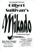 1998 The Mikado Poster