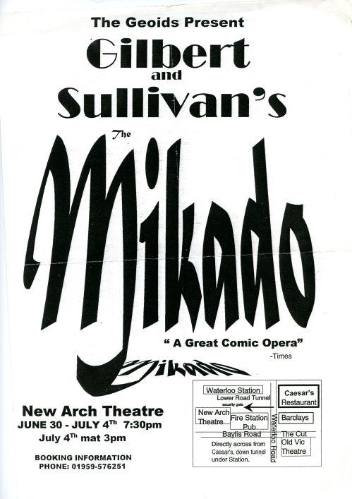 1998 The Mikado Poster
