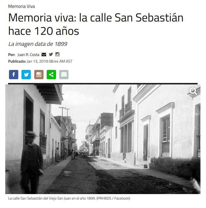 NotiCel - Memoria viva: la calle San Sebastián hace 120 años
