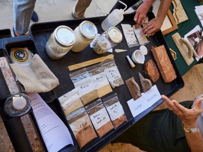 Algunos de los materiales usados en la construcción de las fortificaciones del Viejo San Juan.
