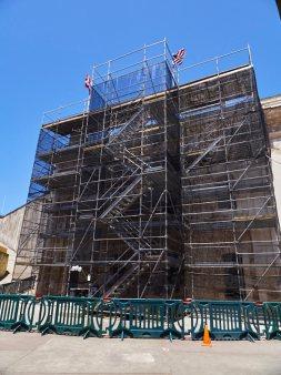 Reparaciones realizadas en el Castillo San Cristóbal por el equipo de albañiles del SJNHS.