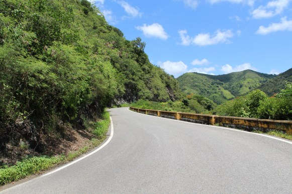 View of Carretera Central, PR-14, Km. 60.5, Aibonito, looking northwest.