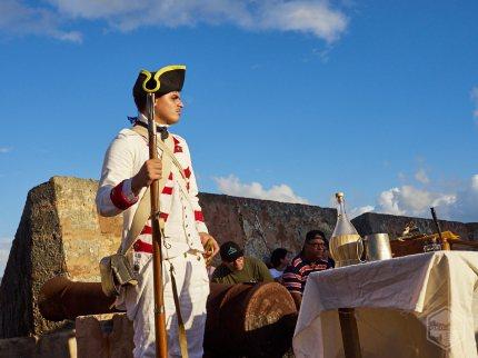 Recreador histórico Félix Rivera Jr. (Milicia Disciplinada siglo XVIII).