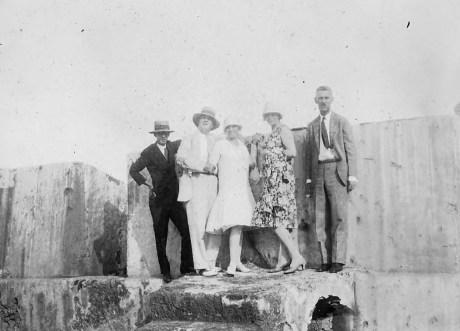 Morro Castle Professor R.W. Romirez (historian) Maurice Cotton Bessie Cotton Gertrude Tallman Professor Thomas E. Benner (Dean or Chancellor of the University of Porto Rico)