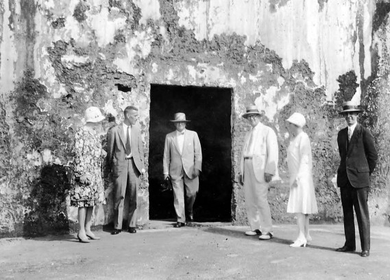 Gertrude, Professor Thomas E. Benner, Tom, Maurice, Bessie, Professor R.W. Romirez. Morro Castle, San Juan.