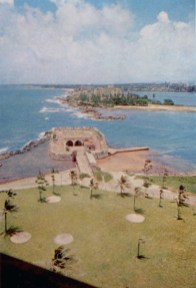 Finished about 1771, Fort San Gerónimo played an important role in driving off the English, when the latter besieged San Juan in 1797. The fort is today on the grounds of the Caribe Hilton Hotel.