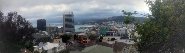 View to Wellington Harbour from Victoria University