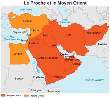 carte moyen-orient