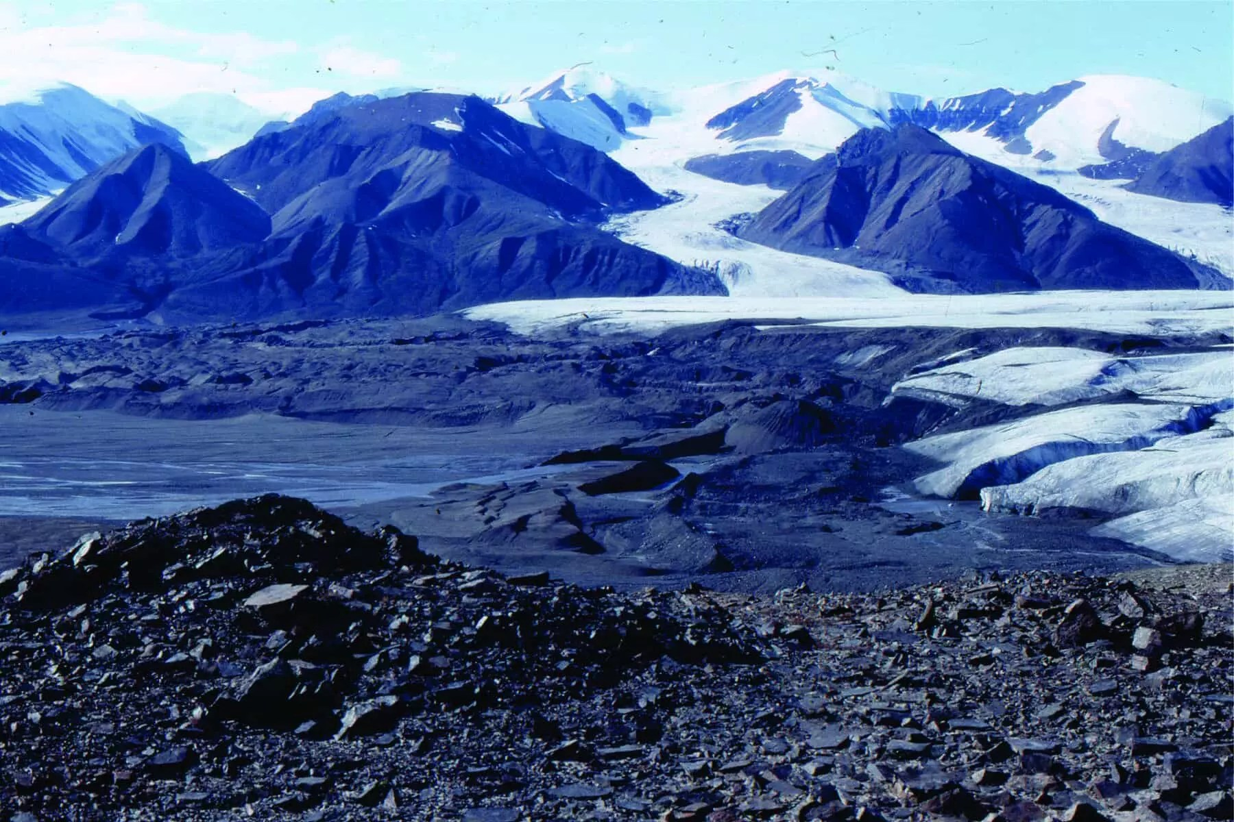 Terminal Moraines Ahead Of A Retreating Strand Glacier Axel Heiberg Island As It Was In 1983