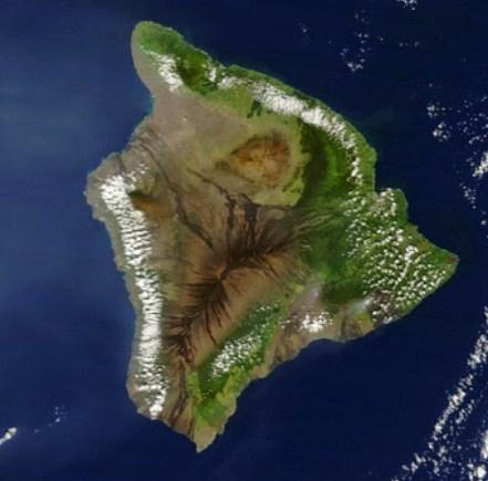 The Island of Hawai'i, USA. Credit: Image courtesy NASA.
