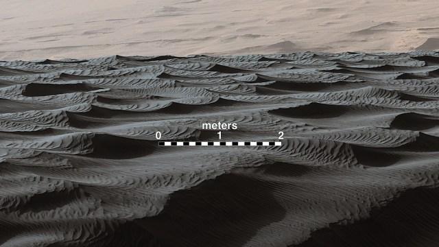sand ripples on Mars-GeologyPage