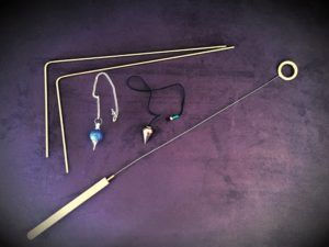 dowsing rods, pendulums,