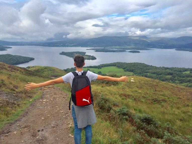 Fotospots in Schottland - Aussicht vom Conic Hill auf den Loch Lomond in den Trossachs