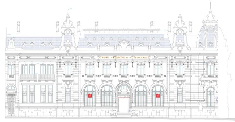 Levé d'architecture : Plan de façade