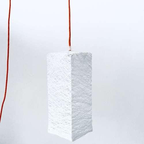 lámpara de techo de hilo hecha a mano artesanal