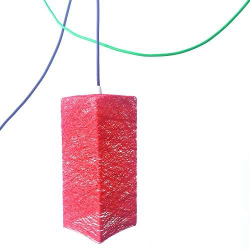 lámpara de pared prisma artesanal de hilo