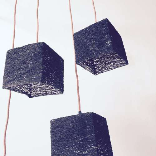 Plug in hanging light Scandinavian design - CUBE