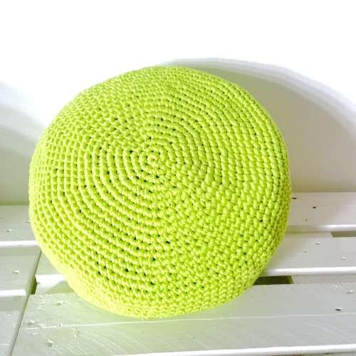 Puf de crochet de algodón reciclado ROUND
