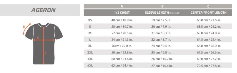 Size-Chart-AGERON short