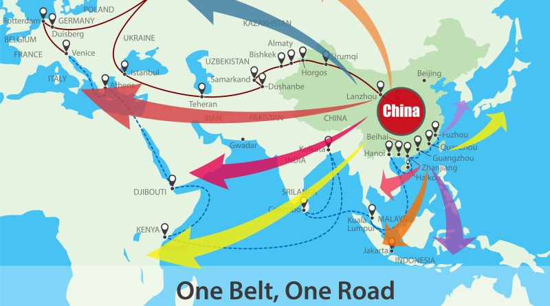 Image result for one road one belt map