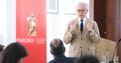 Japanese Prime Minister's Foreign Policy Adviser Tomohiko Taniguchi holds lecture in the House of Wisdom