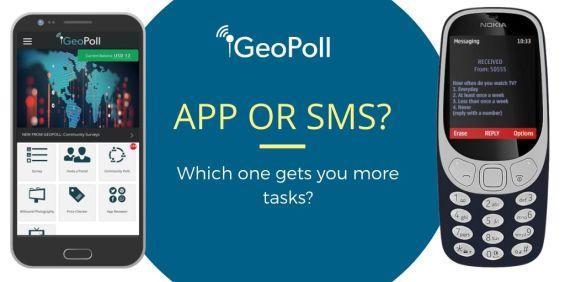 geopoll app vs sms
