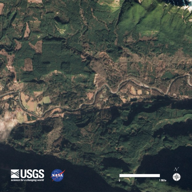 Oso, Washington area Landsat 8 image acquired  January 18, 2014.