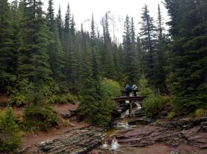 Footbridge over Ptarmigan Creek - good  place for a snack break.