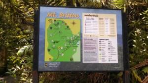 Mt. Britton trail head sign in El Yunque.