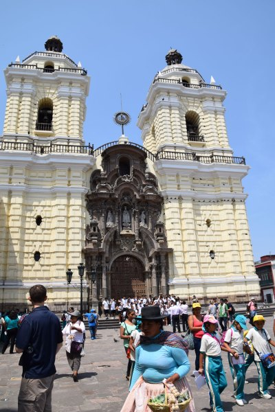 San Francisco Monastery in Lima's Historic Centre. The Monastery is well-known for its catacombs.