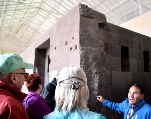 My guide, Ayul Acuna Cardenas, explaining the Incan stonework.